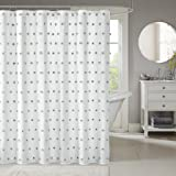 Madison Park Sophie Shower Curtain White 72x72