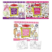 Melissa & Doug Sticker Collection and Coloring Pads Set: Princesses, Fairies, Animals, and More