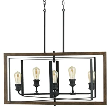 Home Decorators Collection Palermo Grove Collection 5 Light Black Gilded  Iron Linear Chandelier