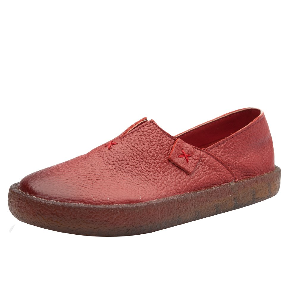 cec5e46275805 Amazon.com   Mordenmiss Women's Candies Step-in Emboridery Handmade Play  Ballet Slippers Loafer   Loafers & Slip-Ons