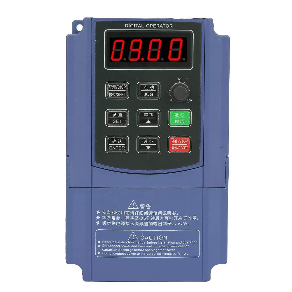 Acogedor VFD Inverter Frequency Converter, 380V 2.2KW Three Phase Input Three Phase Output Frequency Converter VFD by Acogedor