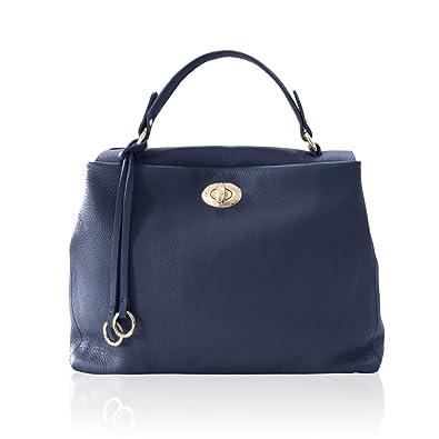 060893268c0 ELENA Italian Tote handbag shoulder purse soft grained leather ...