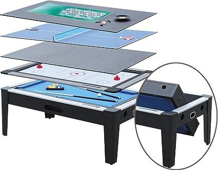 Nineballs Pool Cum Air Hockey Table (6 In 1 Multi Game Table)