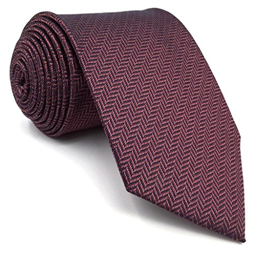 Shlax&Wing Solid Color Burgundy Purple Ties For Men Silk Necktie Business - Is Purple Burgundy
