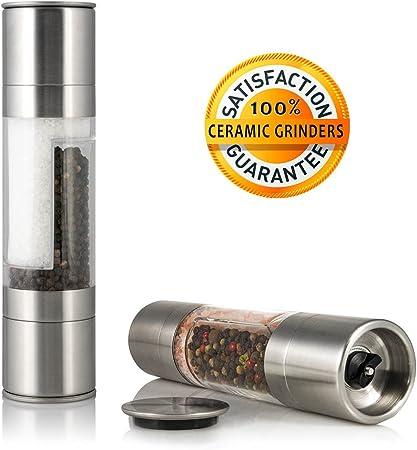 Wooden Salt and Pepper Grinder Herb Spice Grinder Table Grinder 21cm