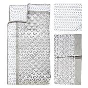 Trend Lab Art Deco 3 Piece Crib Bedding Set, Gray/White
