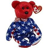 04eeeb65c20 Amazon.com  Ty Beanie Babies - Liberty the White Teddy Bear (USA ...