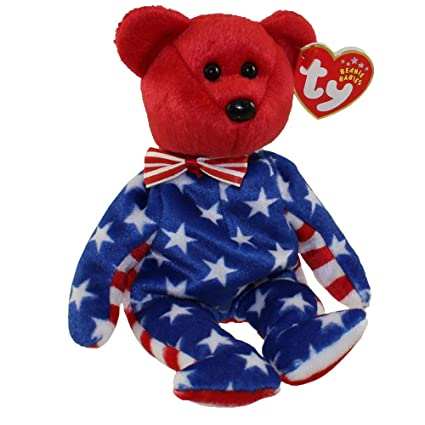e655791a252 Amazon.com  Ty Beanie Babies Liberty - Bear Red (USA Exclusive)  Toys    Games