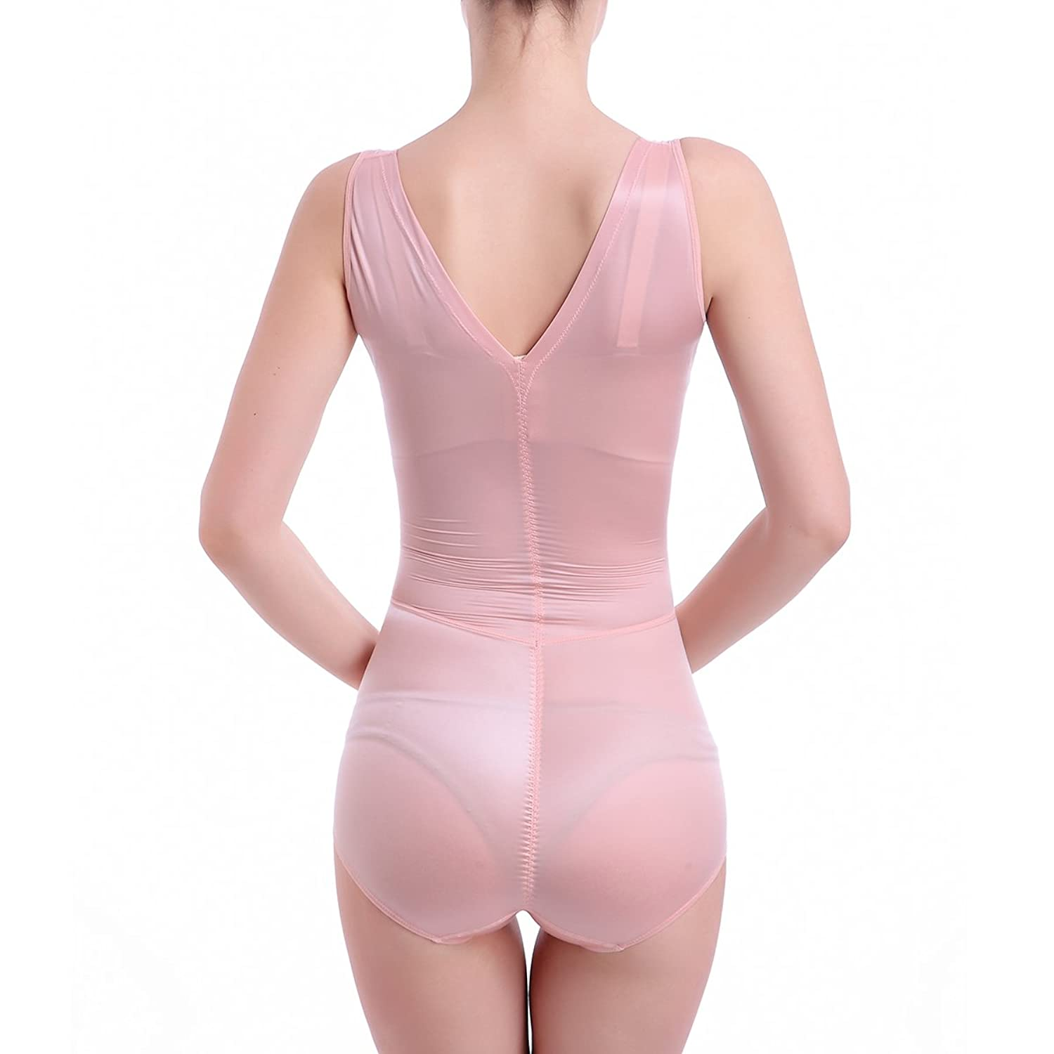 Shymay Women's Shapewear Bodysuit Seamless Tummy Slimming Firm Control Body Shaper