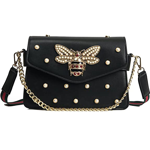 Women Messenger Bags Little bee Handbags crossbody bags Shoulder Bags Designer Handbags with pearl