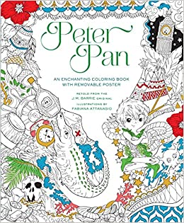 Peter Pan Coloring Book Fabiana Attanasio 9781454920908 Amazon