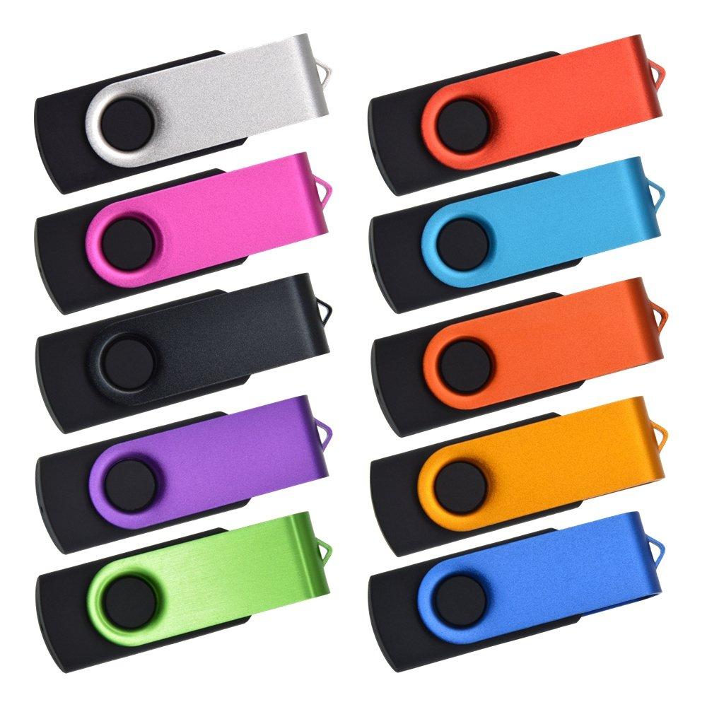 Kepmem 50pcs 128MB USB Flash Drive Multi Pack Portable USB 2.0 Stick Mixed Colors Jump Drives by Kepmem