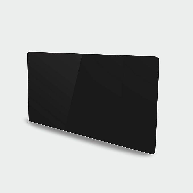 VOLTMAN VOM540038 - Radiateur à inertie sèche en Céramique - Facade en Verre Trempée - 2000 Watts - Ecran digital et Programmable - Noir