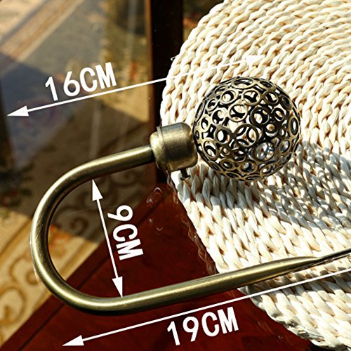 Hot Nordic Retro Style hion U-Shaped Curtain Wall Hooks Metal Hook(As The Picture)