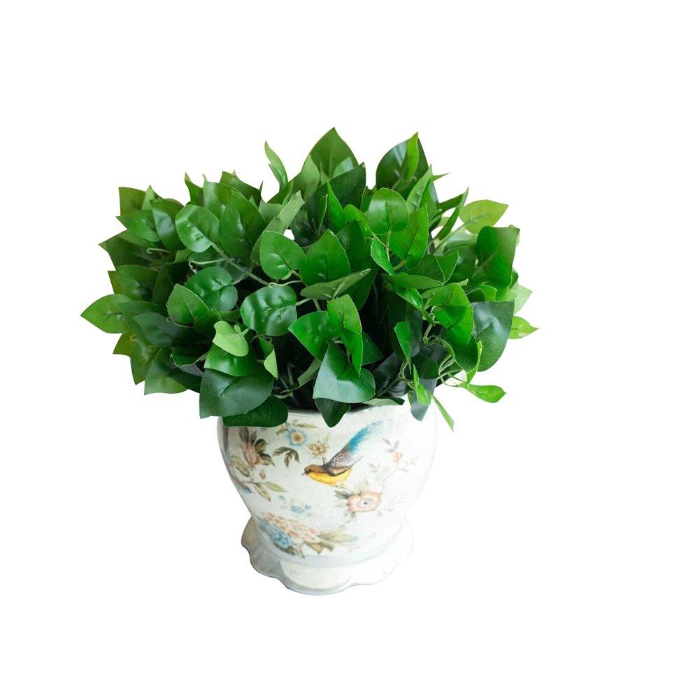 Afco 1pcs Unfading防水人工植物シミュレートEvergreenホテルホームDecor Never Wither And Fall (noポット) 32cm グリーン 44500A11S6 B07FVKQFXP グリーン