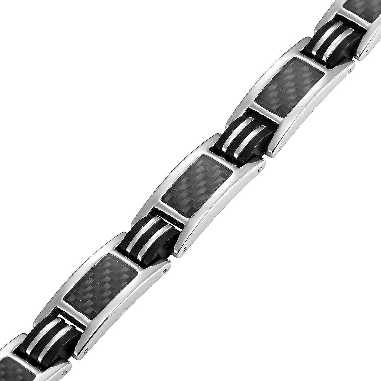 Willis Judd magnetische Herren Armband Titan mit Schwarzen Carbon
