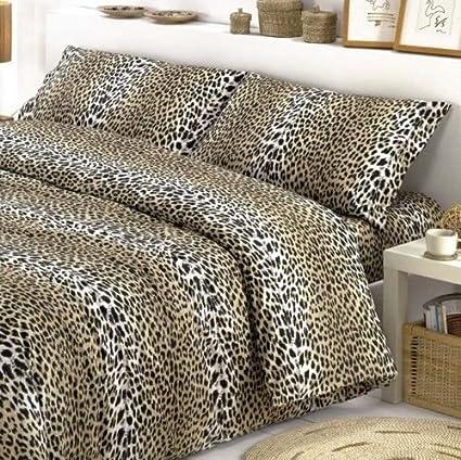 785dc79ae5 COMPLETO LENZUOLA MATRIMONIALI leopardato maculato 2piazze leopardo:  Amazon.it: Casa e cucina
