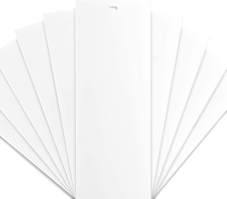 DALIX PVC Vertical Blind Replacement Slat Smooth (White) 10 Pk 82 1/2 x 3 1/2