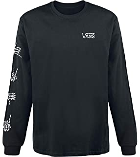 4317f2dc Vans Long Sleeve T-Shirt - Checker Sleeve Two Fer Black/White Size ...