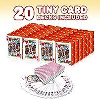 Gamie Mini Playing Cards Pack of 20 DecksPoker CardsMiniature 1.5 Card