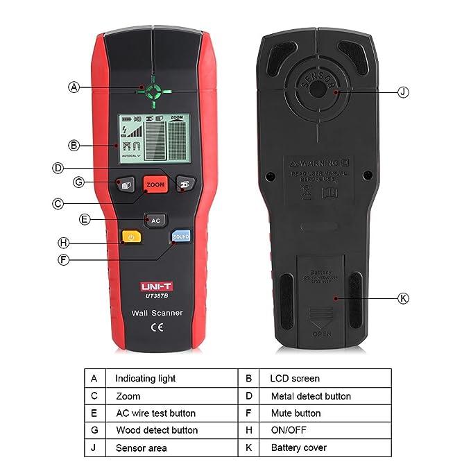 Detector de Pared, Detector de Metal, Detector de Cables y Tuberias, Madera y AC Cable, Escáner de Pared: Amazon.es: Bricolaje y herramientas