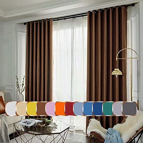Leadtimes Metor Linen Room Darkening Curtains 100 Inch Wide