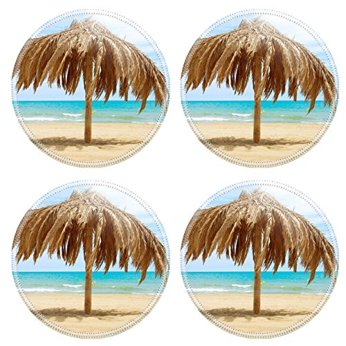 MSD Round Coasters IMAGE ID 20793592 Vacation Concept Palapa Sun Roof Beach Umbrella Palm Umbrella Base