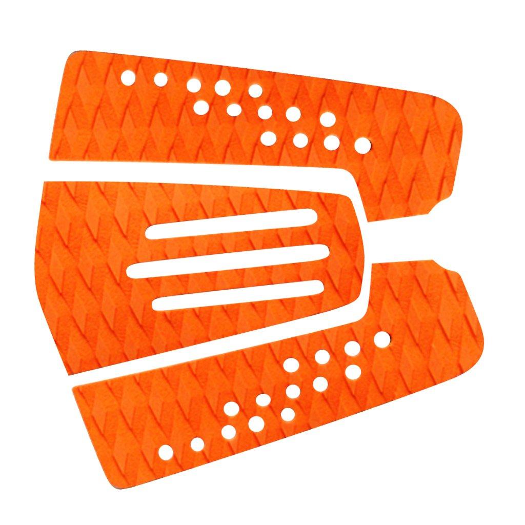 FLAMEER 3 Pezzi Pad per Surf Board/Stuoia della Gomma Piuma Antiscivolo per Tavola Surf di Uragano della Spuma - Arancione, Come descritto