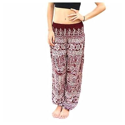 Inkach Women Wide Leg Pants - High Waist Yoga Pants Elasticity Palazzo Trousers Casual Loose Pant