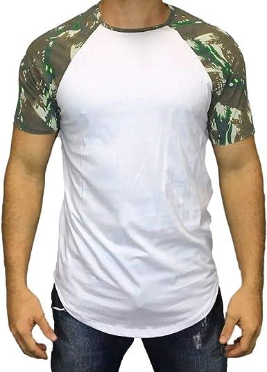 Oliviavan Camiseta de Manga Corta para Hombre,Verano Moda Casual Hombre Camisetas Estampado de Camuflaje Cuello Redondo Manga Corta Algodon Hombre Camisas: Amazon.es: Ropa y accesorios