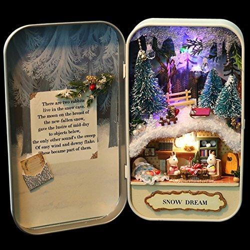 nwfashionホワイト冬クリスマスギフトMini NWFashion Snow Landscape内側Ironボックス NWFashion Dream Snow Dream B0794Z6HXN, グルメコーヒー豆専門!加藤珈琲店:ecb283db --- kutter.pl