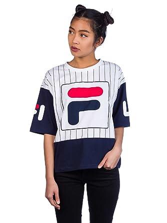 eaff4e848259 T-Shirt Women Fila Cropped Late T-Shirt  Amazon.co.uk  Clothing