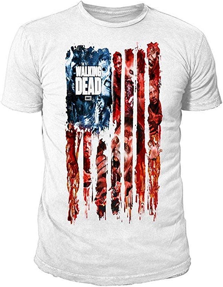 The Walking Dead - Camiseta - Logotipo - Básico - Cuello redondo - para hombre