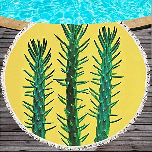 GBYJ Bohemia Toalla de Playa Impresión de Cactus Toalla ...