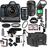 Canon EOS 6D Mark II With 24-105mm f/4 L IS II USM + Tamron 70-300mm + 128GB Memory + Canon Camera Bag + Pro Battery Bundle + Power Grip + Microphone + TTL SpeedLight + Pro Filters,(24pc Bundle)
