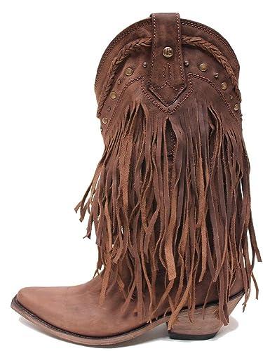 5dc1ed0e7eb LIBERTY BLACK Fringe Boot Choc T Moro Womens Boots LB-71124