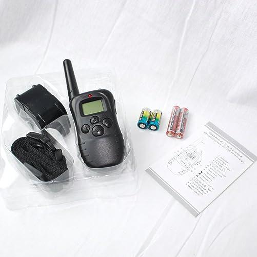 The Elixir New LCD 100LV Pet Dog Bark Collar Training Remote Shock Vibra Sound 300 Meters 100 Levels Shock Vibration, Upto 130lb