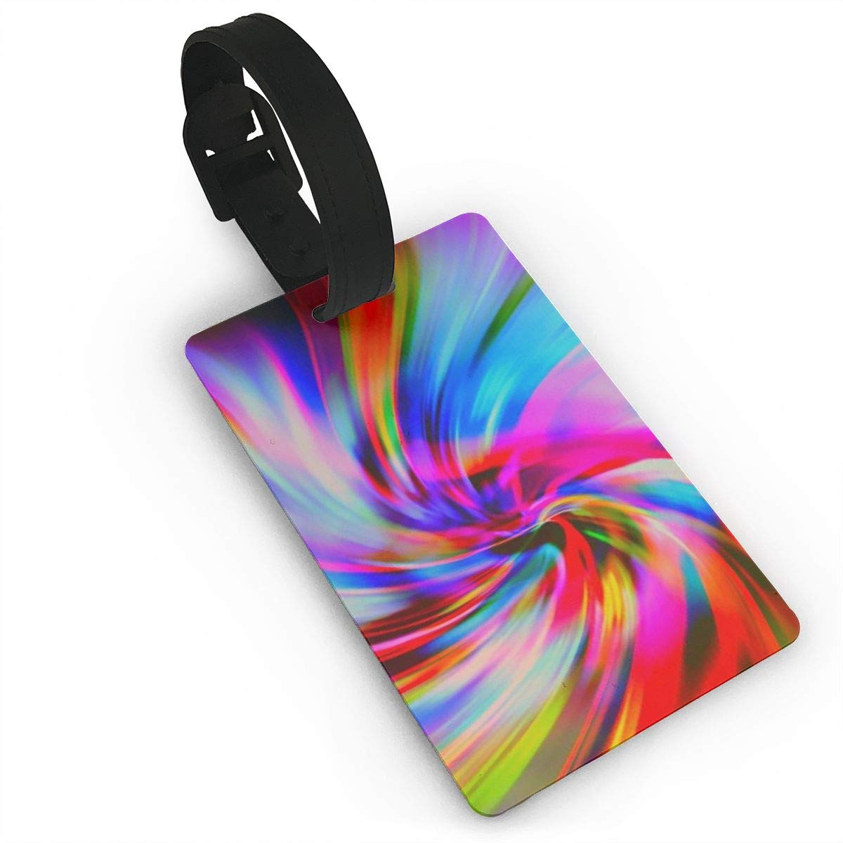 2 Pack Luggage Tags Psychedelic Art Swirl Travel Tags For Travel Tags Accessories