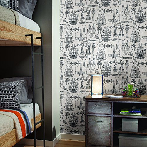 RoomMates Star Wars Blueprint Peel and Stick Wallpaper (Star Wars Wallpaper Border)