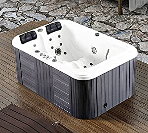 2 Person Hot Tub Spa Outdoor Hydrotherapy Double Lounger Insulated Cover - 220-240 Volt / 40 Amp - 31 Jets - 1.5 HP Pump - 3KW Heater - Ozonator