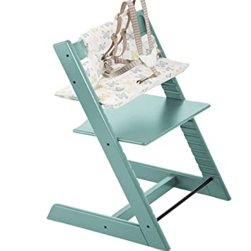 Stokke Tripp Trapp Highchair U0026 Tripp Trapp Cushion Sweet Butterfly (Aqua)