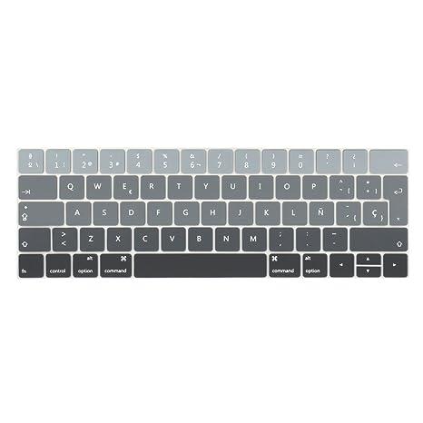 TwoL española Cubierta del Teclado/Keyboard Cover para MacBook Pro 13 15 2016 2017 2018