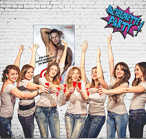 Bachelorette Party Games, Pin the Love Muscle on Romeo