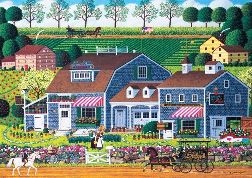 300 Piece Charles Wysocki Prairie Wind Flowers Jigsaw Puzzle by Buffalo Games