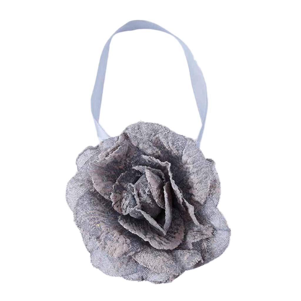 Corbata Magnética Seersucker de 1 Pieza con Forma de Flor - Gris ...