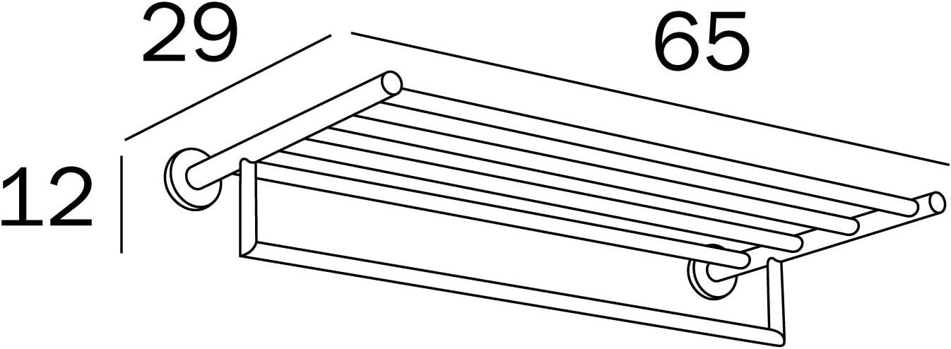 INDA A10680CR Gealuna Porte-Serviettes en Laiton chrom/é 29 x 65 x 12 cm