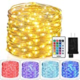 : Homestarry Fairy Lights Plug in Multi Color Change Remote String Lights Fairy Lights with Timer, 33 ft 100 LEDs Firefly Twinkle Lights for Indoor, Bedroom, Party, Wedding, Christmas Decor, 16 Color ¡