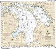 "NOAA Chart 14860 Lake Huron: 32.97"" X 37.58"" Lam"