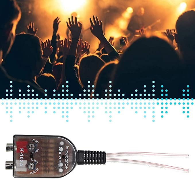 Suuonee Audio Converter einstellbarer Car Stero-Lautsprecher f/ür hohe und niedrige Cinch-Impedanz