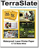 TerraSlate Paper 8.5'' x 11'' 4 Mil Waterproof Laser Printer/Copy Paper 1,000 Sheet Case